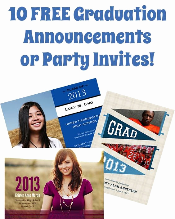 Graduation Party Invitation Maker New 10 Free Graduation Announcements or Party Invites Just