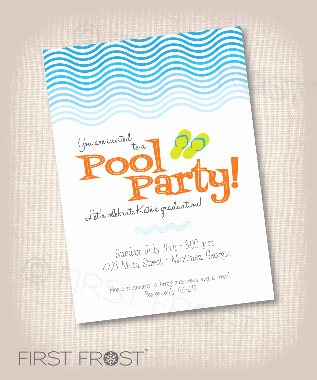 Graduation Party Invitation Messages Best Of Pool Party Printable Invitation Birthday Graduation Party