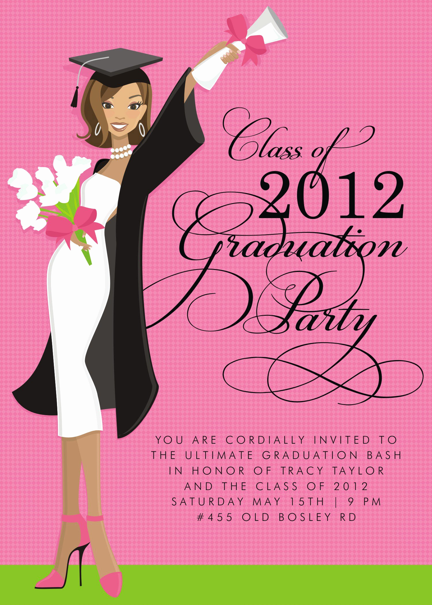 Graduation Party Invitation Messages Lovely formal High School Grad Invitations