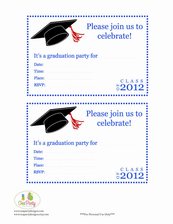 Graduation Party Invitation Template Free Awesome Free Print Graduation Announcements Template Invitation