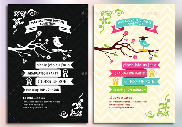 Graduation Party Invitation Template Free Elegant 12 Graduation Party Invitations Psd Ai Vector Eps