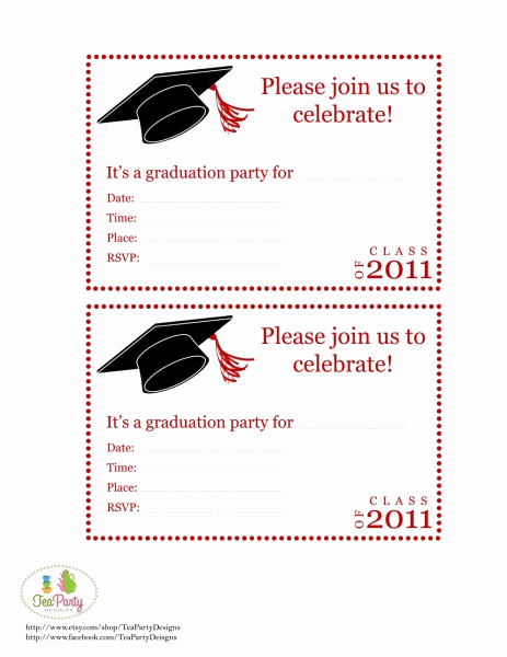 Graduation Party Invitation Template Free New Free Printable Graduation Announcements Templates
