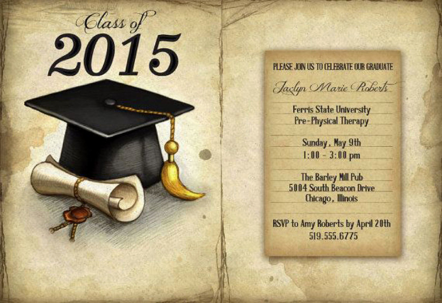 Graduation Party Invitation Template Free Unique 40 Free Graduation Invitation Templates Template Lab