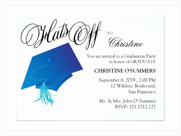 Graduation Party Invitation Template Luxury 12 Graduation Party Invitation Designs & Templates Psd