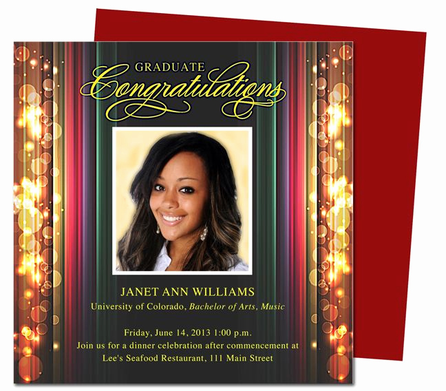 Graduation Party Invitation Template Word Beautiful Stage Graduation Party Announcements Templates Use with