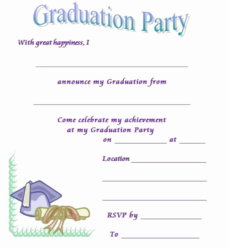 Graduation Party Invitation Templates Fresh 40 Free Graduation Invitation Templates Template Lab