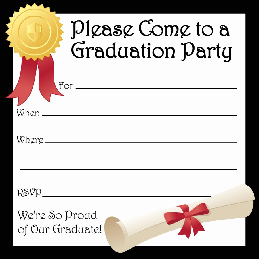 Graduation Party Invitation Templates Lovely 40 Free Graduation Invitation Templates Template Lab