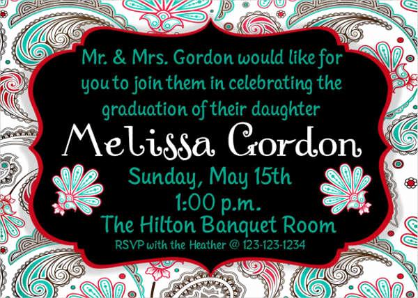 Graduation Party Invitation Templates Luxury 50 Graduation Invitation Templates Psd Ai Word