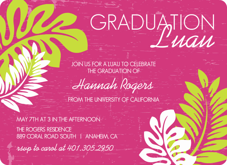 Graduation Party Invitation Text Beautiful Outdoor Graduation Party Ideas Bbq Picnic Luau Invitaitons