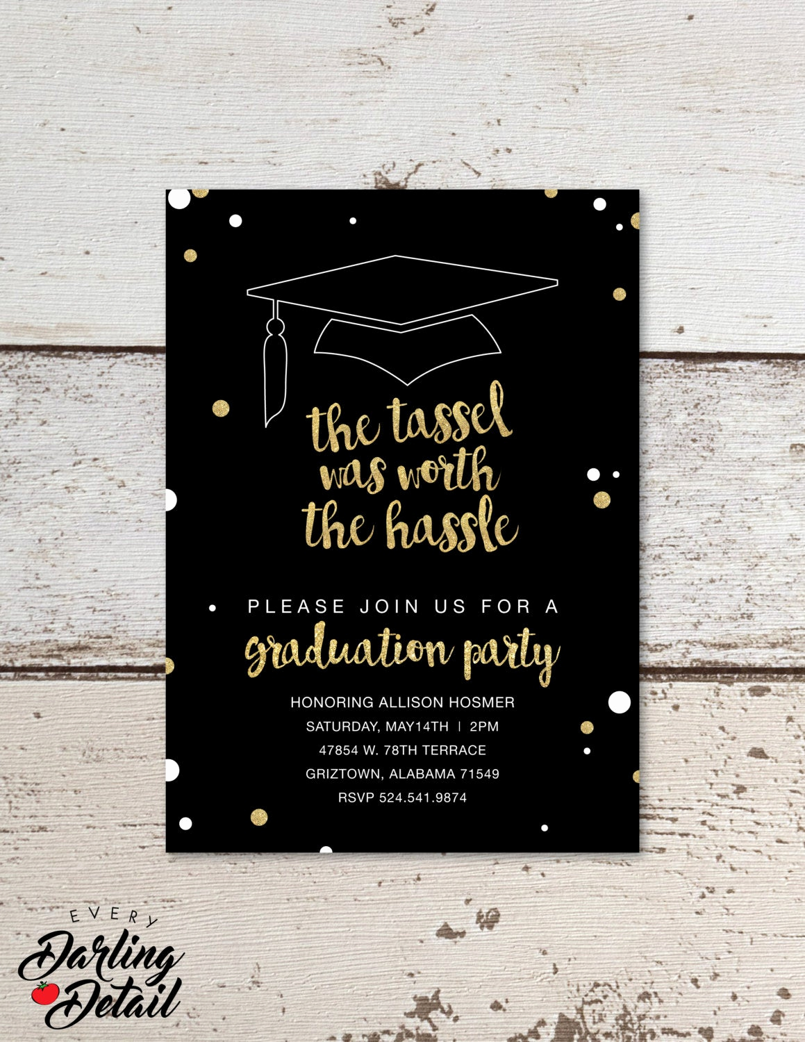 Graduation Party Invitation Text New the Tassel Was Worth the Hassle Graduation Party Invitation