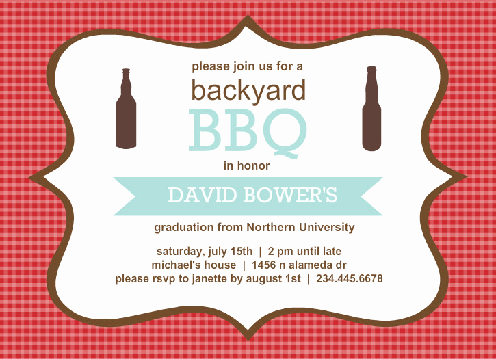 Graduation Party Invitation Wording Ideas Fresh Outdoor Graduation Party Ideas Bbq Picnic Luau Invitaitons