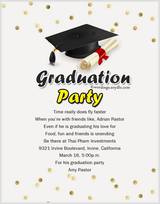 Graduation Party Invitation Wording Ideas New Invitation Message for Graduation Party Cobypic