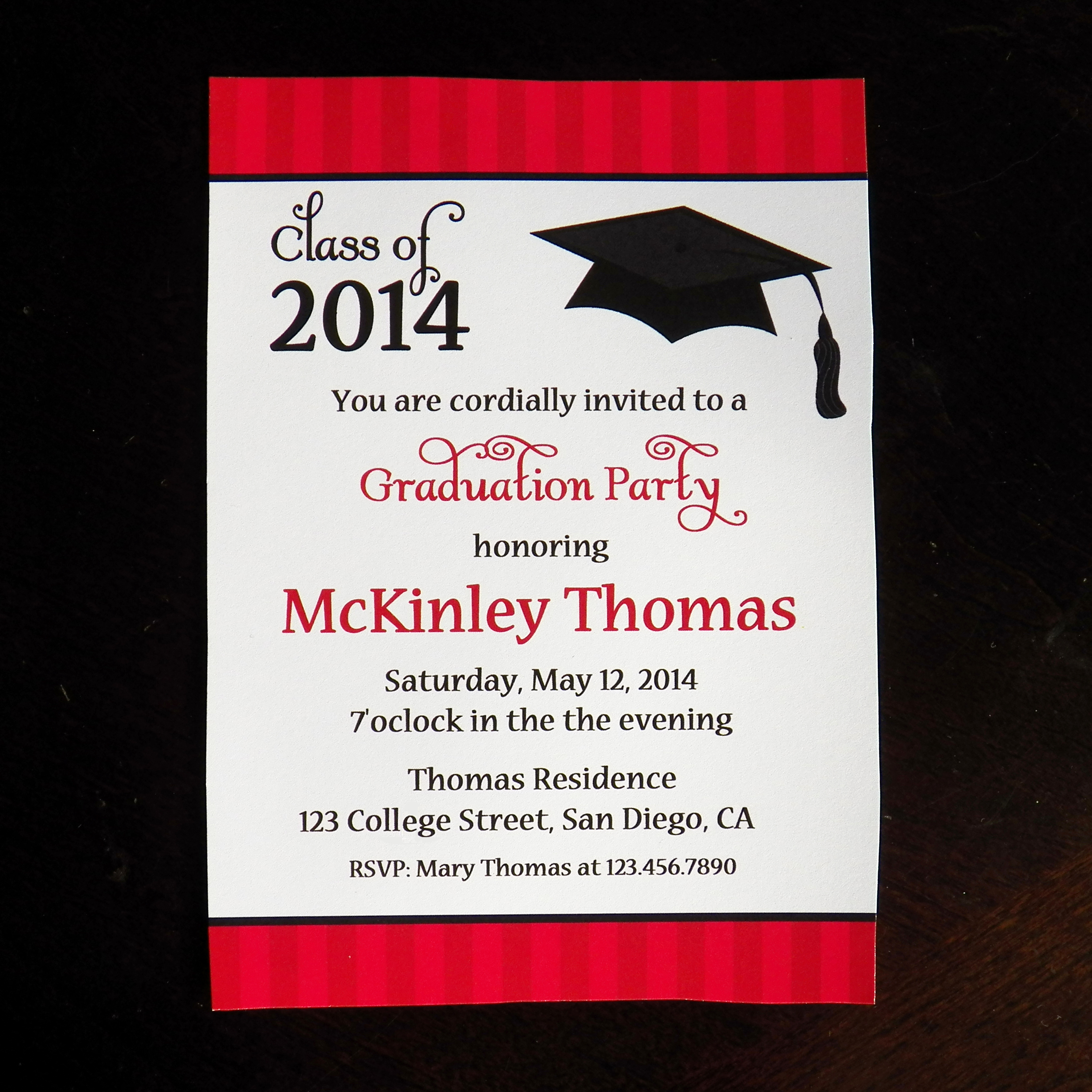Graduation Party Invitation Wording Lovely Graduation Party Hats F to Mckinley that Party Chick