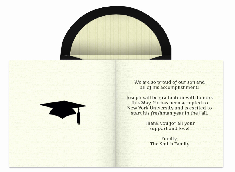 Graduation Party Invitation Wording Samples Awesome Graduation Announcement Wording