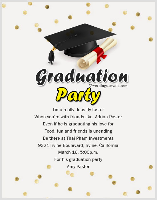 Graduation Party Invitation Wording Unique Wording Archives Wordings and Messages