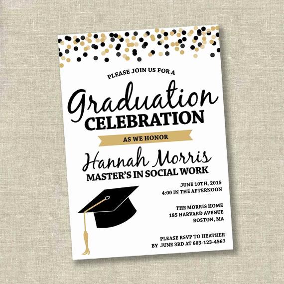 Graduation Reception Invitation Template Awesome Graduation Invitation College Graduation Invitation High
