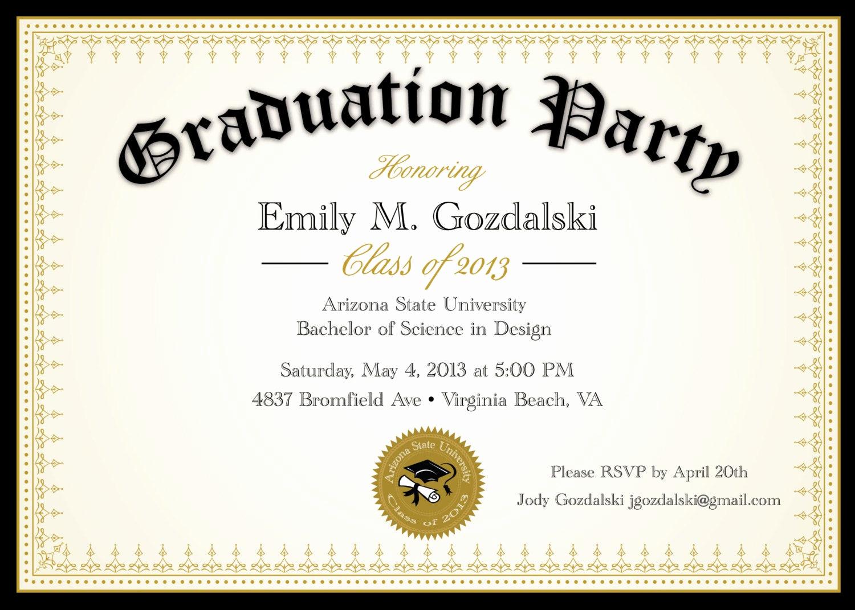 Graduation Reception Invitation Template Beautiful Diploma Graduation Party Invitations Grad by Announceitfavors