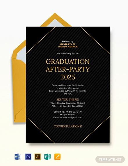 Graduation Reception Invitation Template Beautiful Free Graduation Invitation Template Download 637