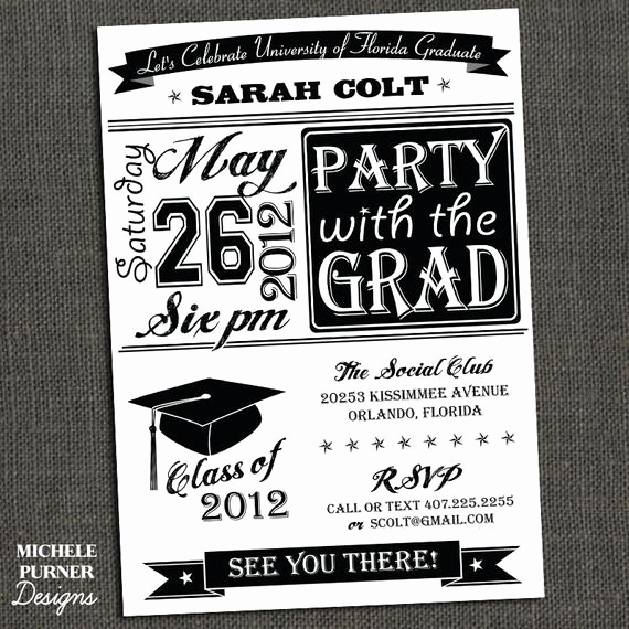 Graduation Reception Invitation Template Best Of Items Similar to High School or College Graduation Party