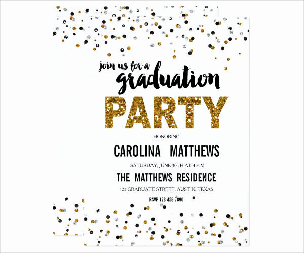 Graduation Reception Invitation Template Elegant 9 Party Invitation Banner Designs & Templates Psd