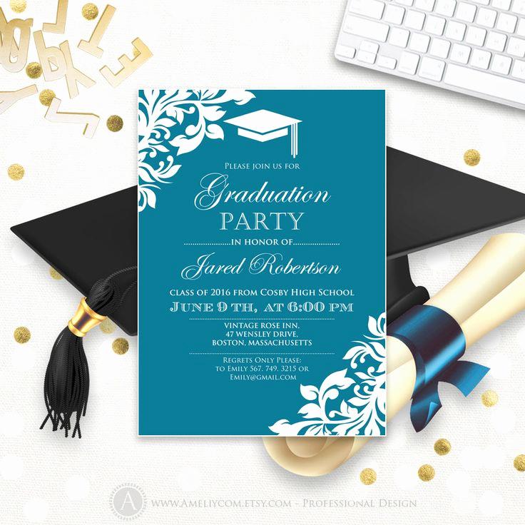 Graduation Reception Invitation Template Fresh Best 25 High School Graduation Announcements Ideas On