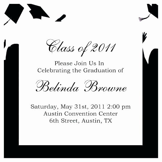 Graduation Reception Invitation Template Inspirational College Graduation Party Invitation Wording