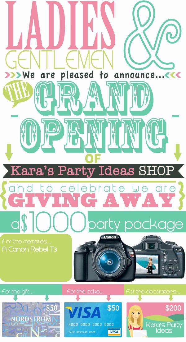 Grand Opening Invitation Ideas Awesome Kara S Party Ideas $1 000 Giveaway Kara S Party Ideas