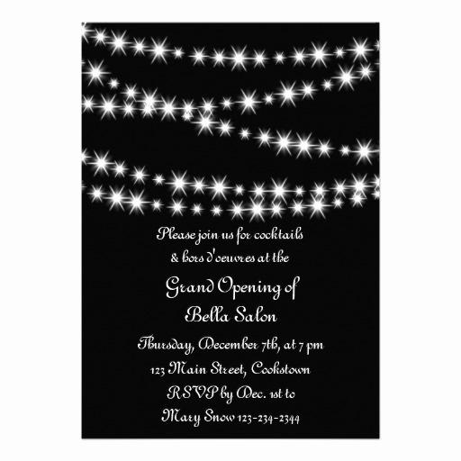 Grand Opening Invitation Ideas Inspirational Grand Opening Twinkle Lights Black 5x7 Paper Invitation