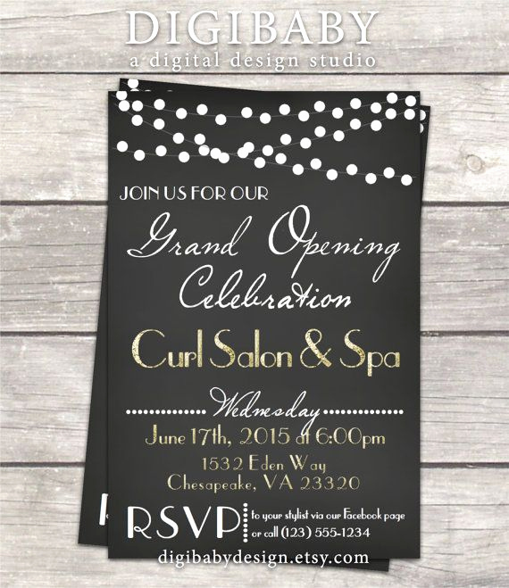 Grand Opening Invitation Ideas Lovely Chalkboard event Open House Grand Opening by