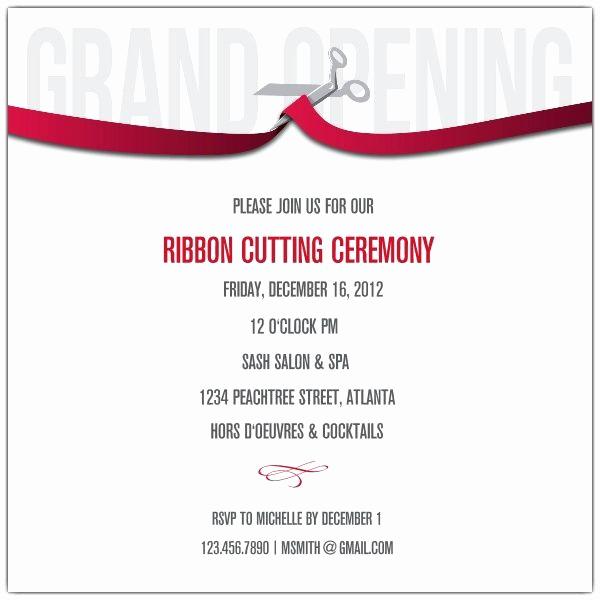 Grand Opening Invitation Ideas New Ribbon Cutting Corporate Invitations