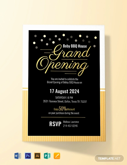 Grand Opening Invitation Template Awesome Free Grand Opening Invitation Card Template Word