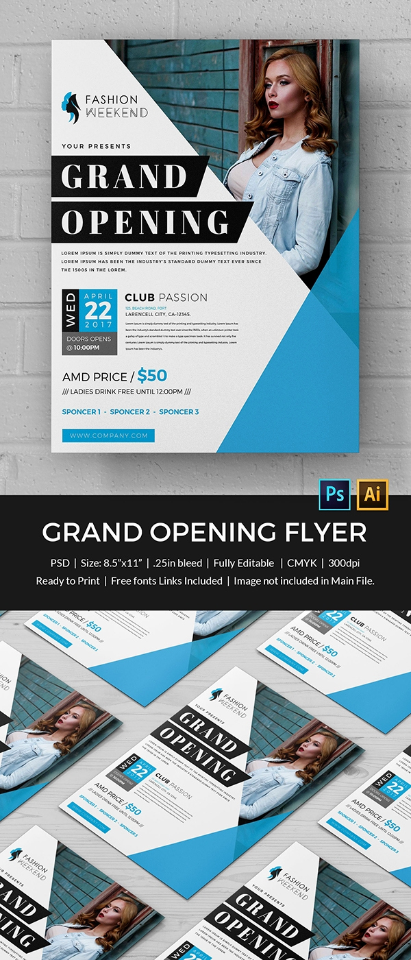 Grand Opening Invitation Template Best Of Grand Opening Flyer Template 34 Free Psd Ai Vector