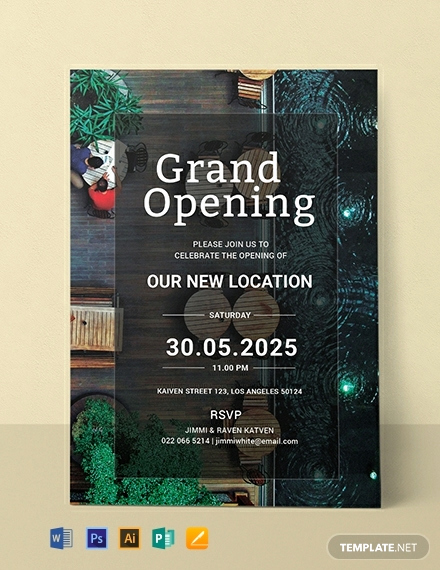 Grand Opening Invitation Template Inspirational Free Restaurant Grand Opening Invitation Template Word