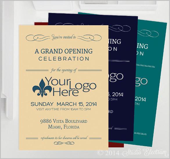 Grand Opening Invitation Template Luxury Grand Opening Invitation Template Free Templates Data