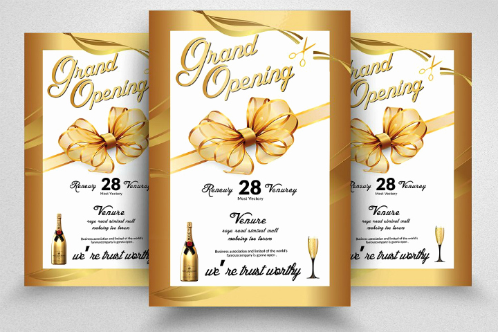 Grand Opening Invitation Template New 15 Restaurant Grand Opening Invitation Designs