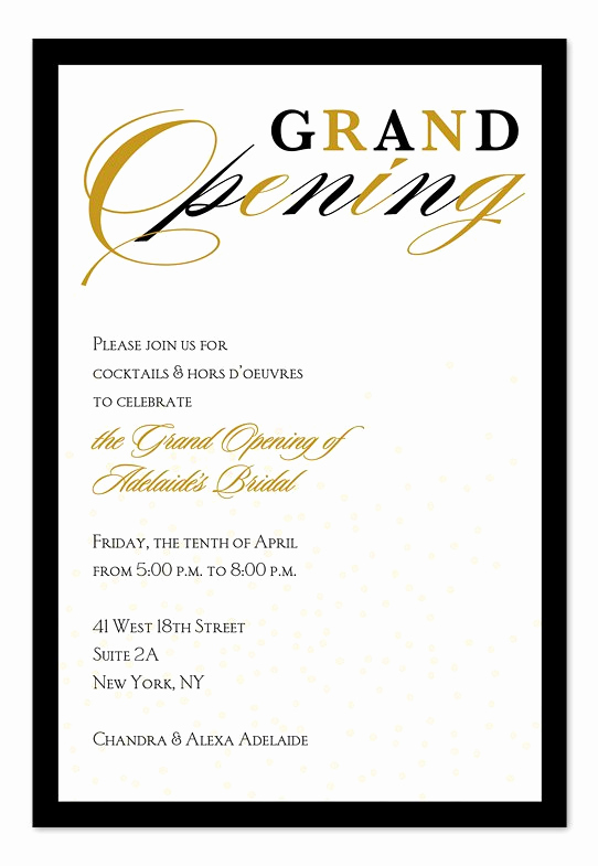 Grand Opening Invitation Wording Awesome Grand Opening Invitations