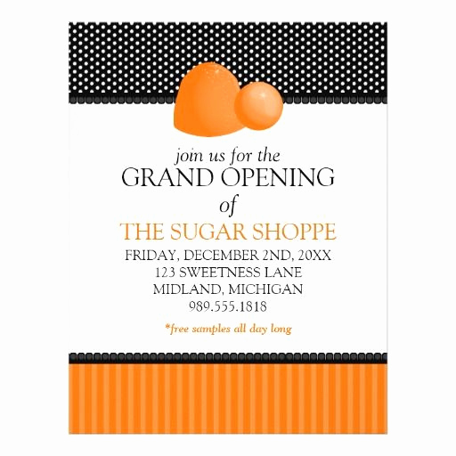 Grand Opening Invitation Wording Lovely Candy Shop Grand Opening Announcement Flyers