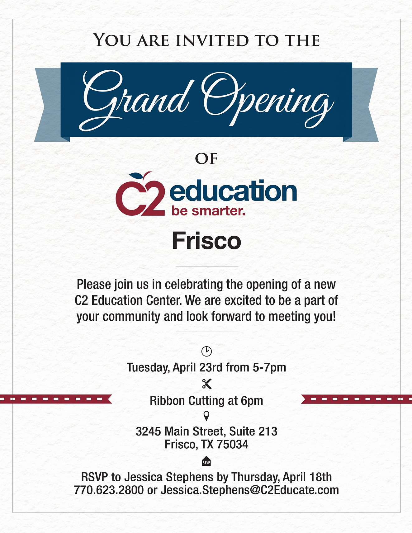 Grand Opening Invitation Wording Luxury C2 Education Announces Grand Opening In Dallas area