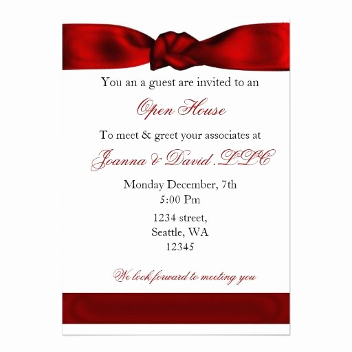Grand Opening Invitation Wording Luxury Red Elegant Corporate Party Invitation Zazzle
