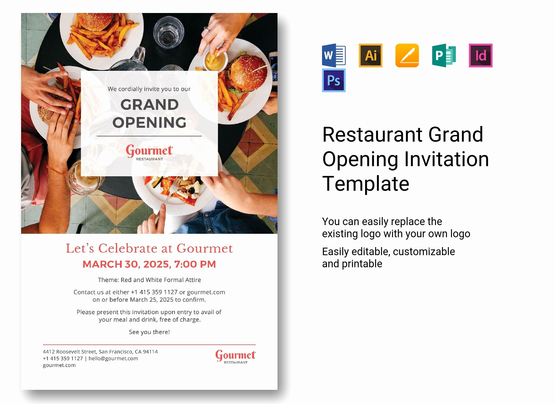 Grand Opening Invitation Wording Luxury Restaurant Grand Opening Invitation Template In Psd Word