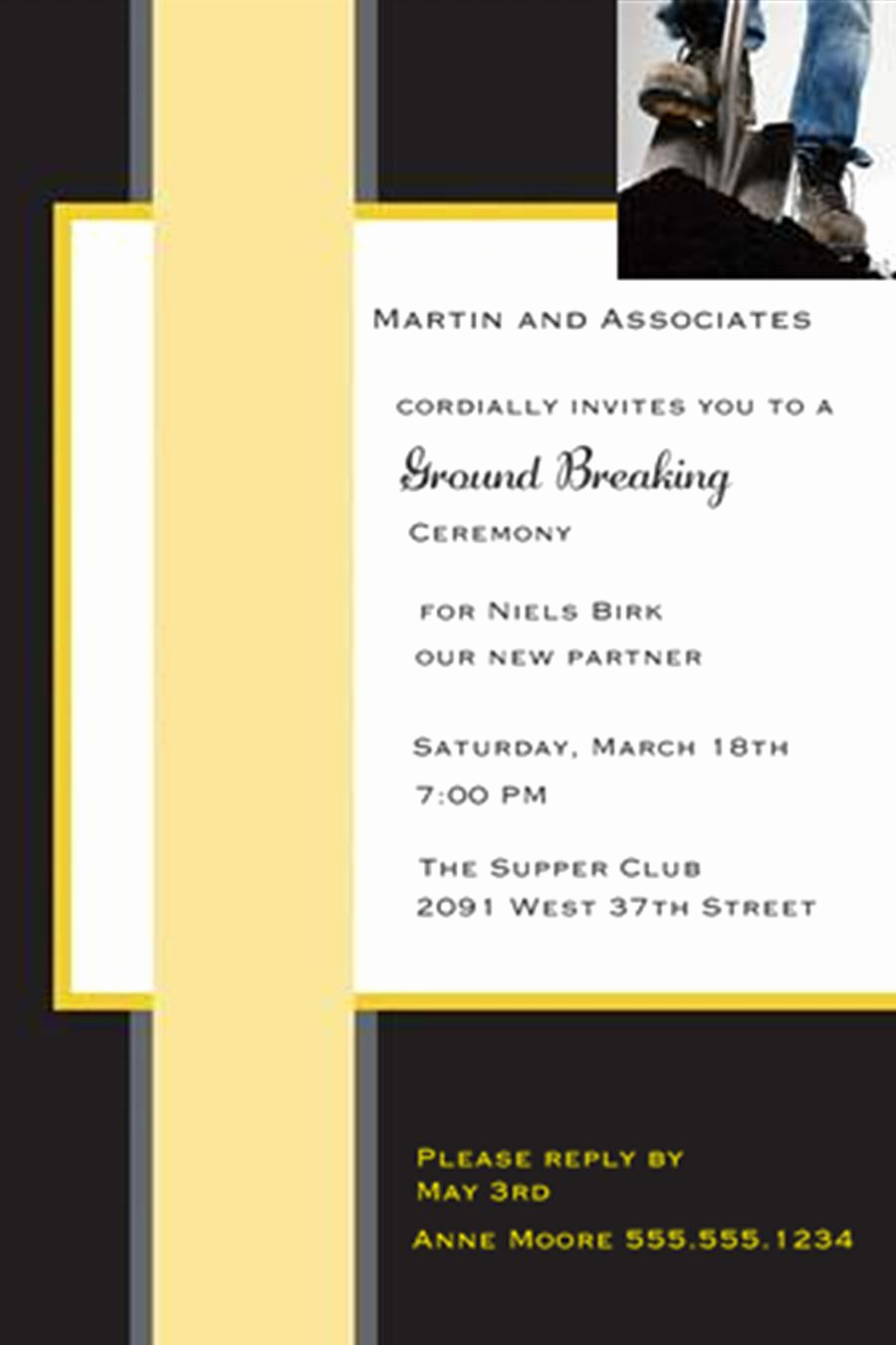 Grand Opening Invitation Wording New Grand Opening Invitations and Ground Breaking Invitations