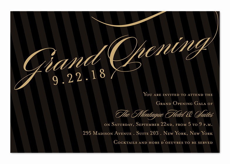 Grand Opening Invitation Wording New Grand Opening Stripes Corporate Invitations by
