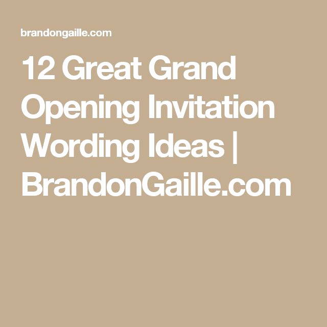Grand Opening Invitation Wording Unique Best 25 Grand Opening Invitations Ideas On Pinterest