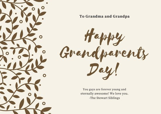 Grandparents Day Invitation Template Best Of Customize 41 Grandparents Day Card Templates Online Canva