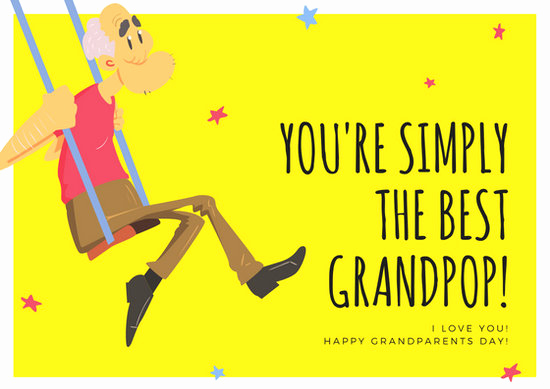 Grandparents Day Invitation Template Best Of Customize 45 Grandparents Day Card Templates Online Canva