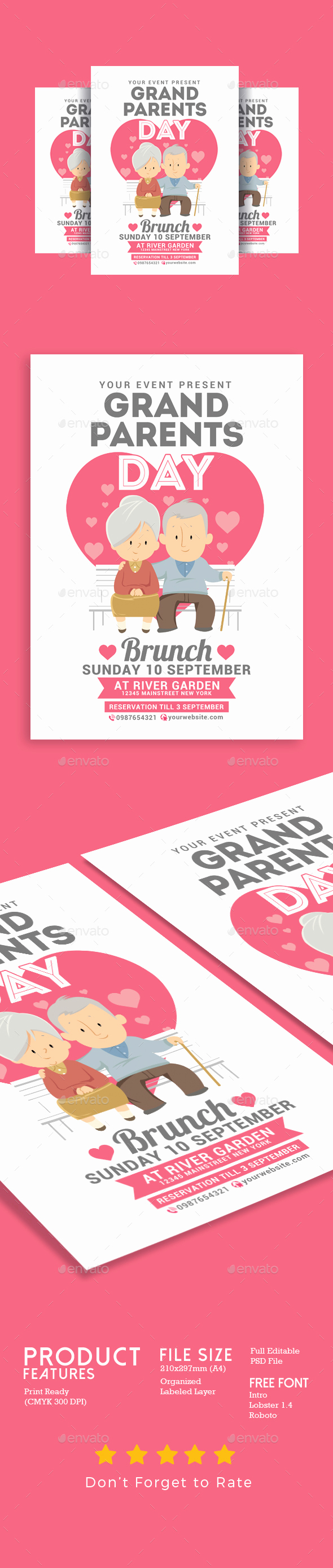 Grandparents Day Invitation Template Fresh Grandparents Day Brunch by Muhamadiqbalhidayat2