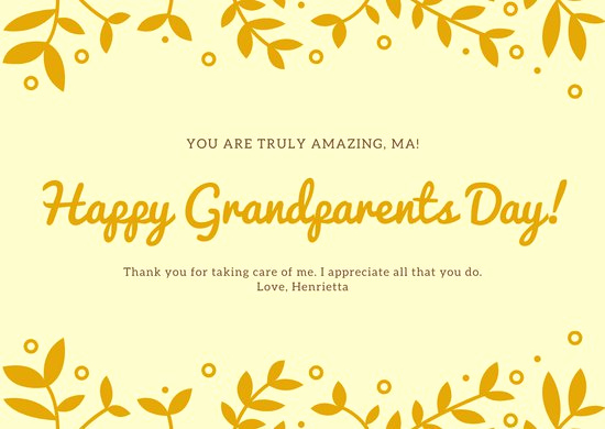 Grandparents Day Invitation Template Inspirational Customize 41 Grandparents Day Card Templates Online Canva
