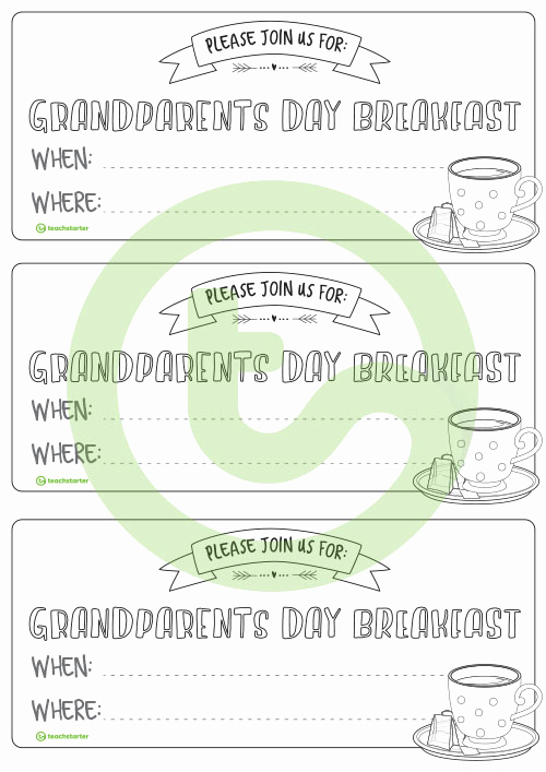 Grandparents Day Invitation Template Luxury Grandparents Day Invitations Teaching Resource