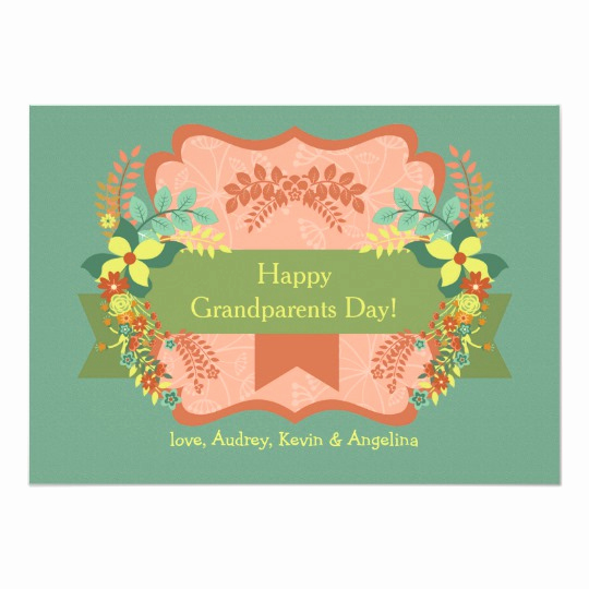 Grandparents Day Invitation Template Luxury Happy Grandparents Day Card