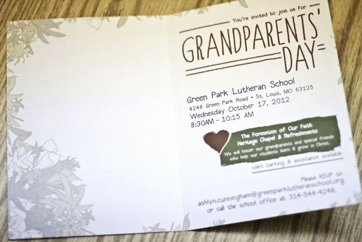 Grandparents Day Invitation Template Unique 20 Best Grandparents Day Images On Pinterest